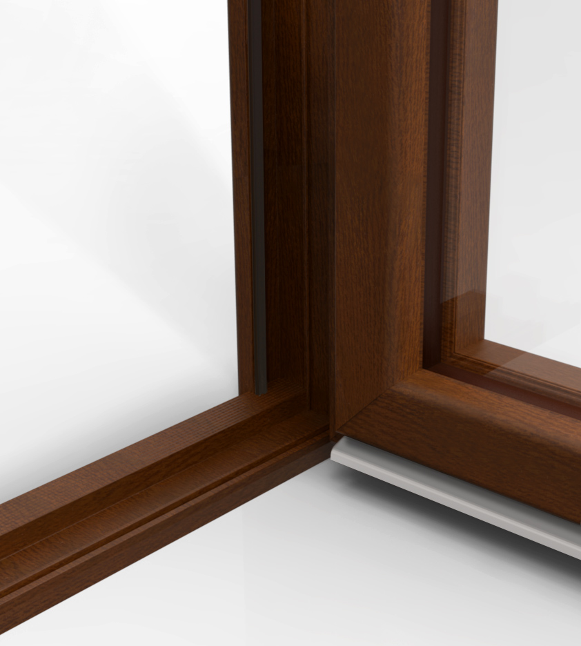 Soglia ribassata in tinta nobento - Areatore per finestra ...