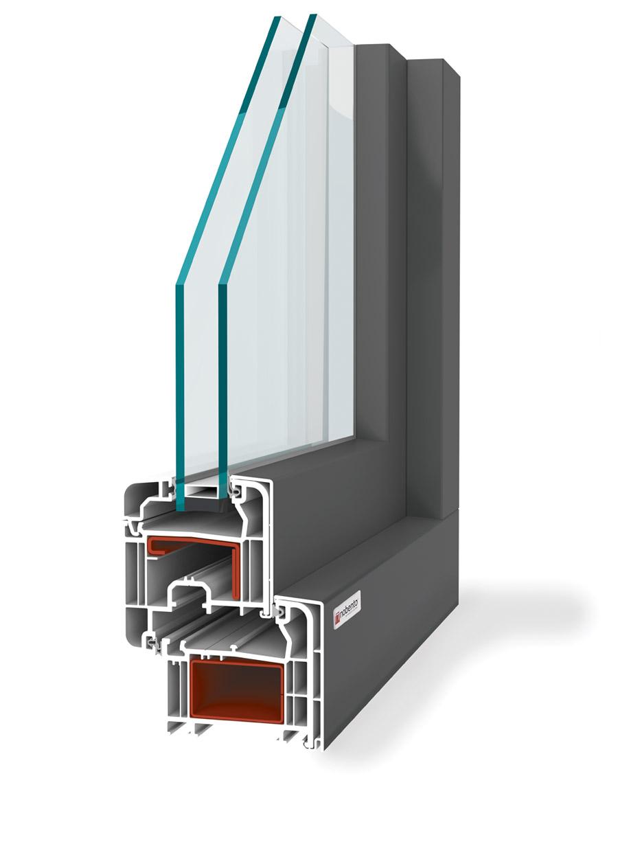 70 classico alu finestre nobento in pvc alluminio - Finestre in alluminio o pvc ...