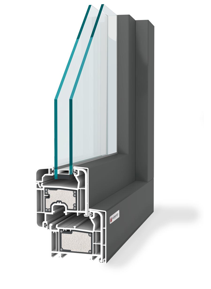 Nobento finestra in pvc alluminio con rinforzo termico
